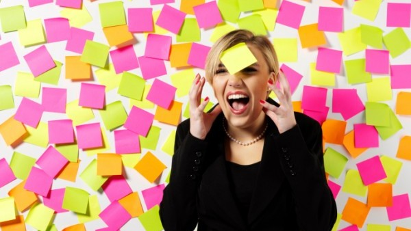 Crazy post it notes